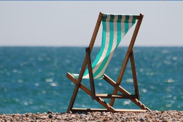 Regulowany leżak na plażę