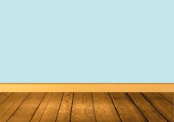 Panele na podłodze, listwa przy ścianie